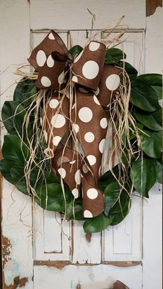 Magnolia Front door wreath, Greenery Wreath - Wreath Great for All Year Round - Everyday Burlap Wreath, Door Wreath, Front Door Wreath by FarmHouseFloraLs on Etsy