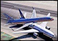 American Airlines Over United Airlines.