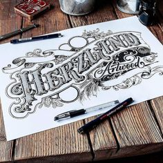 Awesome lettering and illustration by @tobiassaul   #typegang if you would like…