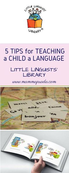 5 tips for teaching child a language! Is your child learning languages at school and you would like to help them? Read how to do it in 5 easy steps! Ways Of Learning, Learning Italian, Learning Games, Learning Spanish, Kids Learning, Spanish Class, Spanish Songs, Spanish English, Early Learning