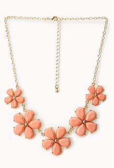 Sweet Side Floral Necklace | FOREVER 21 - 1000065496