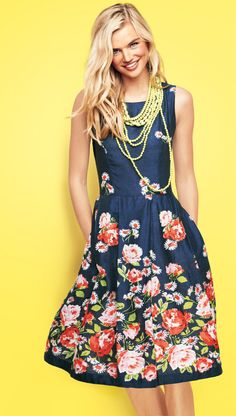 Easter Dress / Lands' End / Floral Outfit...I have the necklace and love the dress