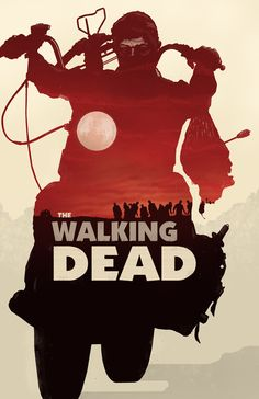 The Walking Dead - Daryl Dixon - Red and Orange Version- the walking dead, daryl dixon, poster, art, zombie, horror, slurpee