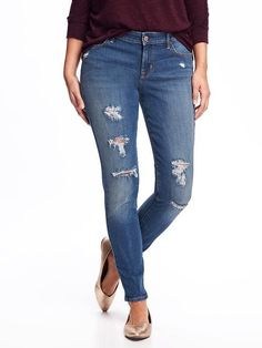 I've been searching for the *perfect* pair of distressed jeans and can't find exactly what I have in mind. These are a few shades lighter than I'd like, but pretty darn close (not to mention a great price!).