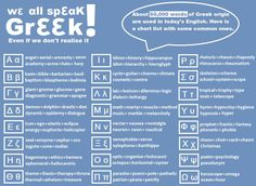 We all speak Greek!