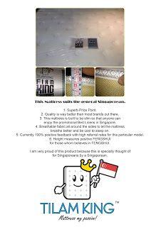 www.tilamking.sg: The Singaporean Pocketed Spring Mattress - $399
