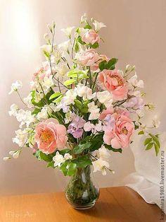 """Букет из полимерной глины """"Аромат садовых роз"""" (polymer clay), $1224"""