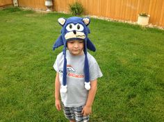 Hedgie hat I made for the gradnson. Pattern from Snappy Tots. Go Sonic!!