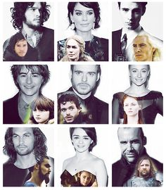 Game of Thrones cast.... In and out of costume! #GameofThrones #GOT