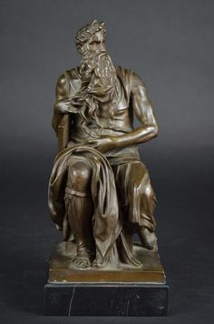 Bronze Figure of Moses with Barbedienne Foundry - Dec 2016 Ferdinand, Bronze Sculpture, Les Oeuvres, Statues, Wax, Marble, Objects, Auction, Lost