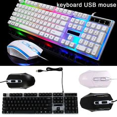 0dec1fb33ed Crack Backlit Gaming Keyboard Mouse and LED Gaming Headset Combo,BlueFinger  114 Keys USB Wired Mechanical Feeling Keyboard,3 Co…   Super Gaming Devices  in ...