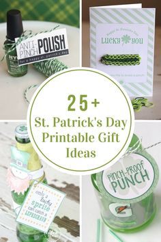 Make St. Patrick's Day a memorable one with these St. Patrick's Day Printable Gift Ideas. St Paddys Day, St Patricks Day, Free Printable Gift Tags, Free Printables, St Patrick's Day Gifts, Rainbow Crafts, Client Gifts, Lucky Day, Luck Of The Irish