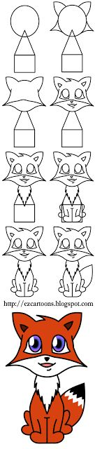 Easy To Draw Cartoons: How To Draw A Fox