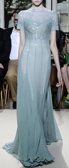 Gorgeous color and flattering lines Georges Hobeika Haute Couture Fall 2012 Couture Mode, Style Couture, Couture Fashion, Georges Hobeika, Beautiful Gowns, Beautiful Outfits, Beautiful Life, Designer Gowns, Dream Dress