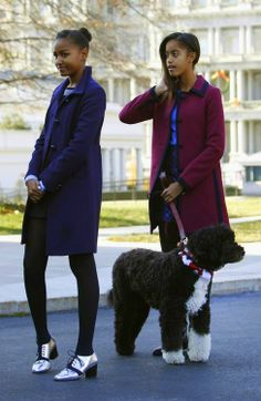 The First Family daughters, Sasha and Malia Obama