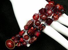 Vintage Hattie Carnegie Bracelet Garnet Red by prairierosejewels, $129.99