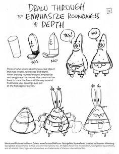 SpongeBob Squarepants - Character Design Page