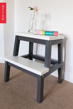http://www.apartmenttherapy.com/before-amp-after-well-loved-ikea-step-gets-a-sharp-makeover-211805