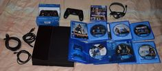 PlayStation 4 PS4 Console 500gb 7 Games Bundle Call of Duty Ghosts Battlefield 4 #Sony