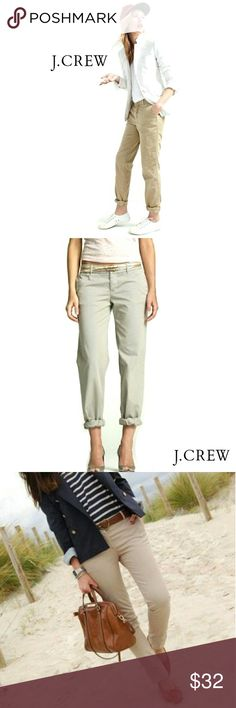 "J.CREW CHINO ""CITY FIT"" CLASSIC TWILL PANTS J,CREW CHINO CLASSIC TWILL ""CITY FIT"" PANTS Pre-Loved  / EUC / Pic for Similarity  SZ 2R 100% Cotton Color is a Tan & May Appear a Lighter Variation  in Photos. It is a True Chino Color Approx Meas;    *   Waist   15""    *   Inseam   30 1/2""    *   Rise   8""    *   Leg Opening   8 1/2"" Pls See All Pics. Ask ? If Not Sure J. Crew Pants Straight Leg"