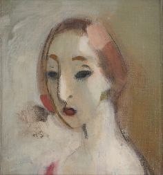 Helene Schjerfbeck (Finland Young woman oil on canvas 32 x 30 cm Helene Schjerfbeck, Love Painting, Figure Painting, Rembrandt, L'art Du Portrait, Exhibition Poster, Contemporary Paintings, Gouache, Oil On Canvas