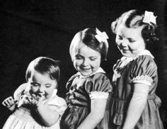 Beatrix, now queen of the Netherlands, aged nearly 7, with sisters Irene and Margriet in December 1944.