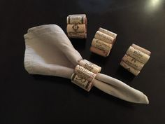 LOVE THESE Hand made natural wine cork napkin rings by CorksdeVine