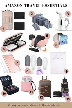 international travel must haves products ~ travel must haves international ` must haves for international travel ` international travel must haves products Travel Essentials For Women, Road Trip Essentials, Packing Tips For Travel, Amazon Essentials, Airplane Essentials, Backpack Essentials, Road Trip Packing, Travel Bags For Women, Beach Essentials