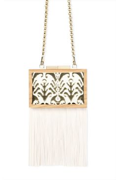 #bag #cluch #wood #fashion #spring #summer #luxury #accessories #fringes #LAURAFED