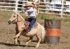 Tiny barrel racer! Facebook