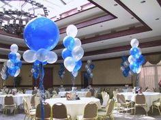 Royal Blue And Silver Centerpieces | Divine Balloons Unlimited, Jonesboro GA 30236
