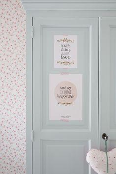 Little Dutch ♥Poster & cards ♥ #littledutch #closet #peach #flowers #mint #heart #poster #card #littlelove