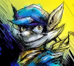 Sly Cooper Sketch Art