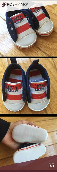 Carters patriotic newborn shoes Adorable newborn shoes. Perfect for a baby due in June to wear for their first Fourth of July. Carter's Shoes Sneakers