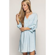 Denim Washed Dress   #southernpalette #southernstyle #getinmycloset #instagood #musthave #boutique    shop www.southernpalette256.com