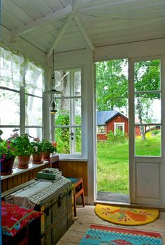 Charming Summer House, Retreat with Gorgeous Views Swedish Style, Swedish House, Pretty Things, Room Additions, Through The Window, Scandinavian Living, Vintage Stil, Country Life, My House