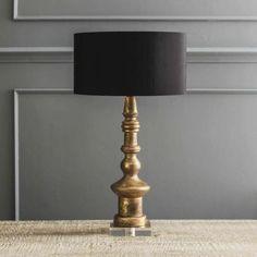 Bedside Fabulous Med Mosaic Glass Crackle Midnight Black Egg Table Lamp Desk