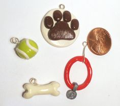 Dog Stuff Charm Set by CuteThingsIMade on Etsy, $4.00
