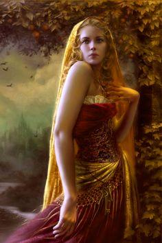 Lady Freja. (Artist: Melanie Delon)
