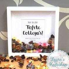 """[ 'Toffees' in een lijstje XL """"Toffees"""" in a list XL you Little Presents, Diy Presents, Little Gifts, Homemade Gifts, Diy Gifts, Teacher Appreciation, Diy And Crafts, Crafts For Kids, Happy People"""