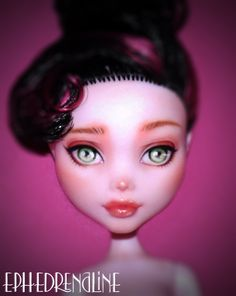 Monster High Repaint Commission - Draculaura by Ephedrenaline on DeviantArt