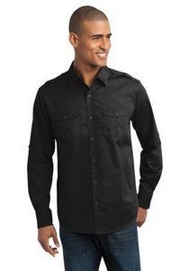 Port Authority Stain Resistant Roll Sleeve Twill Shirt
