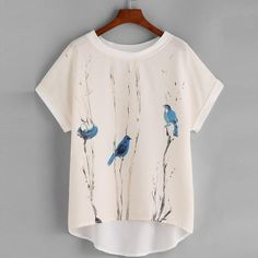 Chiffon Blue Bird Top