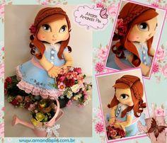 jolie ruiva + festa das flores + boneca 3D