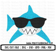 Shark with sunglasses svg - shark svg - boy shark svg - summer svg - SVG, DXF, EPS, png Files for Cutting Machines Cameo or Cricut Tip: SVG's only work with the Embroidery Files, Embroidery Applique, Shark Shirt, Beach Shirts, Vinyl Shirts, Silhouette Cameo Projects, Cricut Creations, Cricut Vinyl, Baby Shark