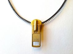 Zipper Pull Pop Art Necklace by ArtologieDesigns on Etsy, $35.00