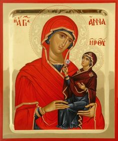 Byzantine Icons, Byzantine Art, Religious Icons, Religious Art, Roman Church, Christian World, Mama Mary, St Anne, Russian Orthodox