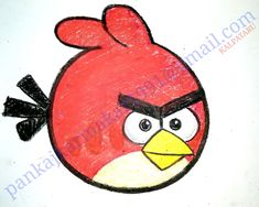 Angry bird painting by PANKAJ KARMAKAR Easy Painting For Kids, Easy Paintings, Angry Birds