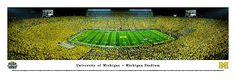 University of Michigan Wolverines - Under the Lights Panoramic 2013