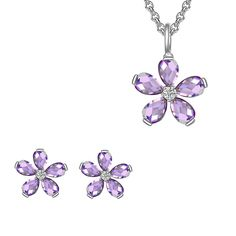 Set Nahla Jewels Parfum Suav de Lavandă (cercei, colier, pandantiv